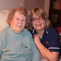 Care Worker with client