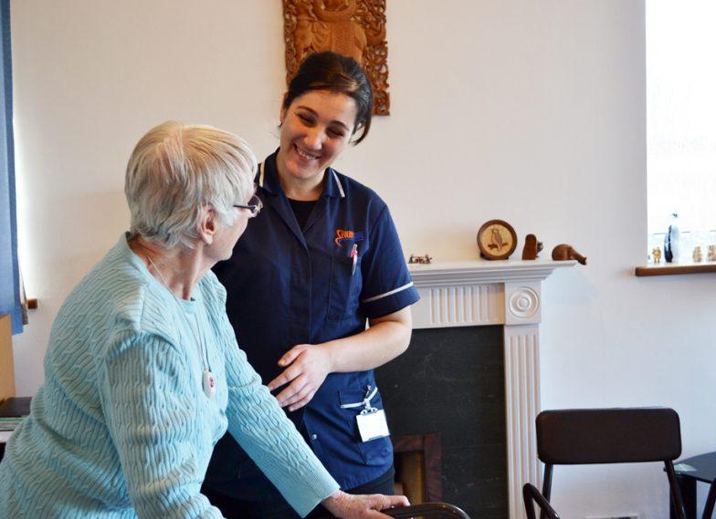 carer assisting client