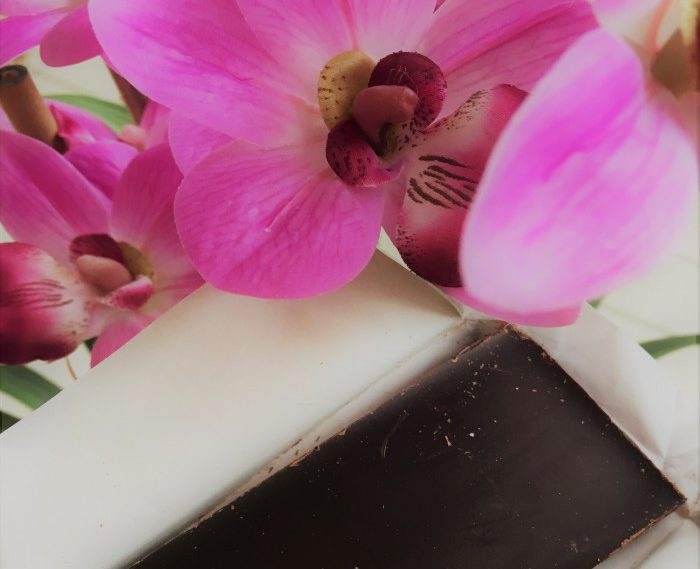 Dark Chocolate and flowers